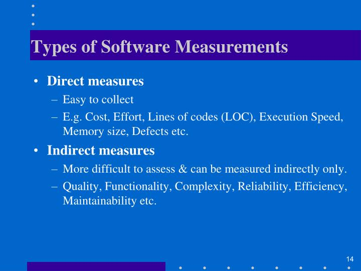 Types of Software Measurements