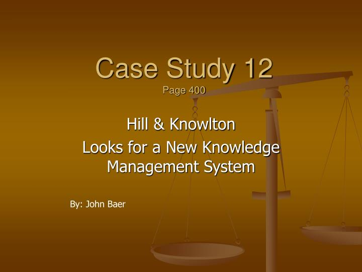 bob knowlton case study essay An essay or paper on case analysis bob knowlton was project and group leader of the photon unit at simmons laboratory knowlton was content with the work of his group and he considered himself to be a team player.