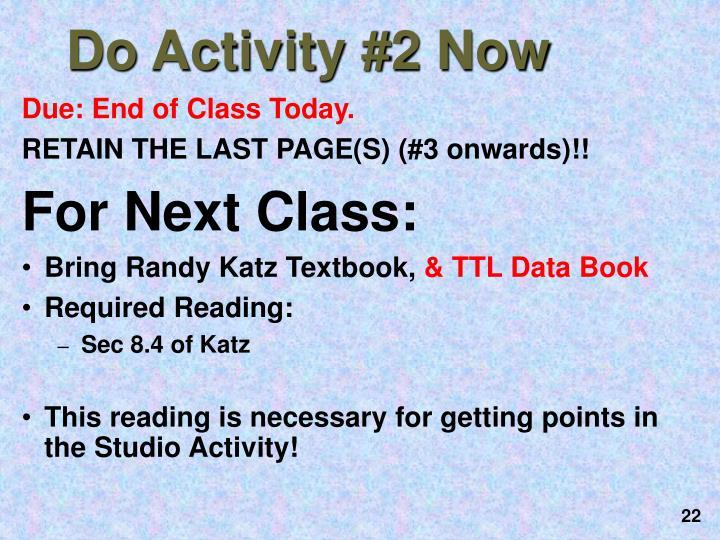 Do Activity #2 Now