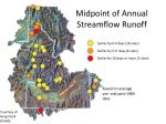 midpoint of annual streamflow runoff