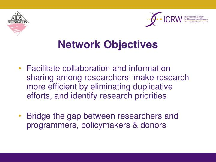 Network Objectives