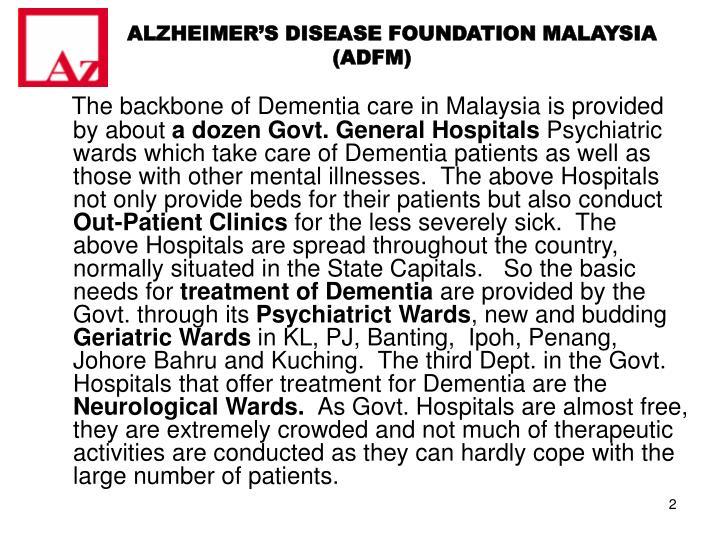 ALZHEIMER'S DISEASE FOUNDATION MALAYSIA