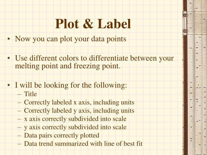 Plot & Label