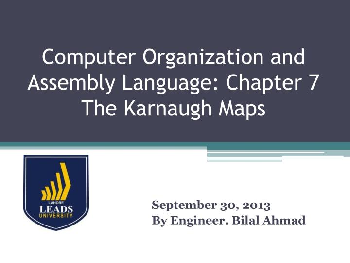 computer organization and assembly language chapter 7 the karnaugh maps n.