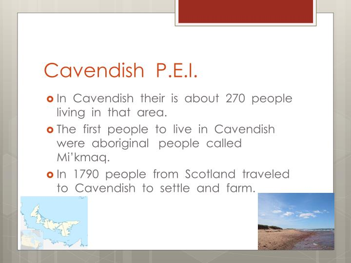 Cavendish  P.E.I.