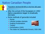 native canadian people