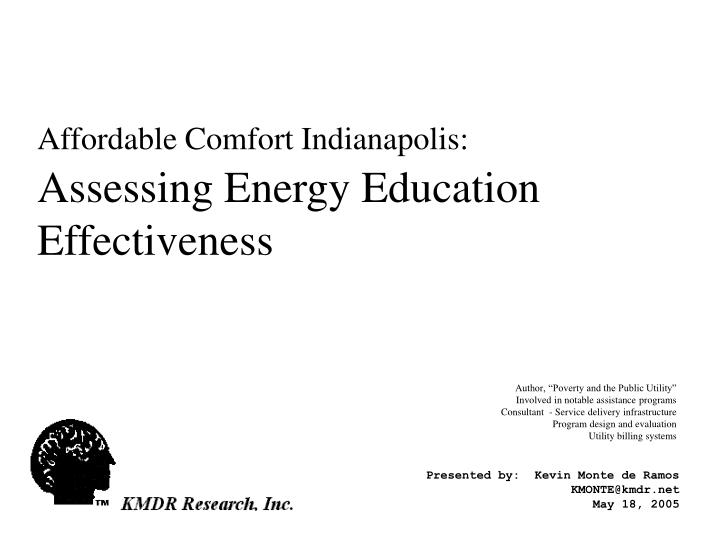 affordable comfort indianapolis assessing energy education effectiveness