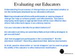evaluating our educators