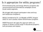 is it appropriate for utility programs