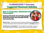 flkrs echos overview suggested classroom activities