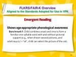 flkrs fair k overview aligned to the standards adopted for use in vpk