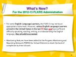 what s new for the 2012 13 flkrs administration