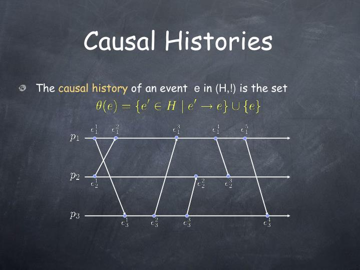Causal Histories