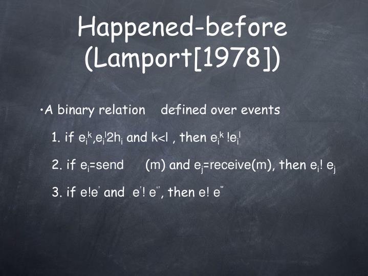 Happened-before