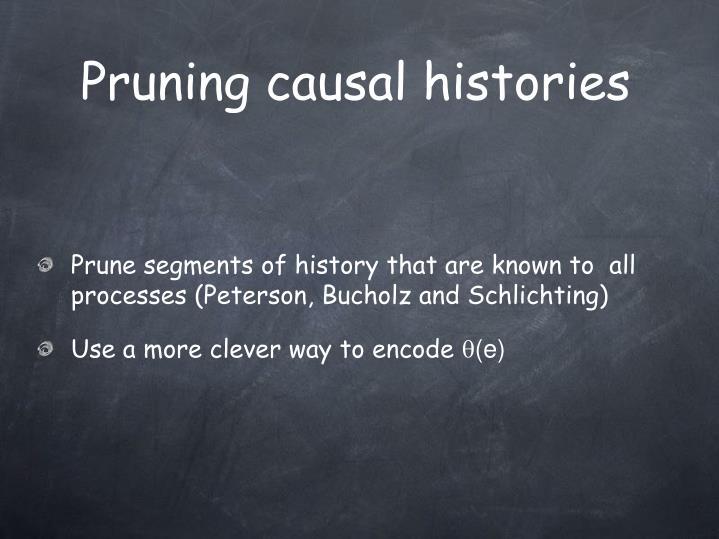 Pruning causal histories