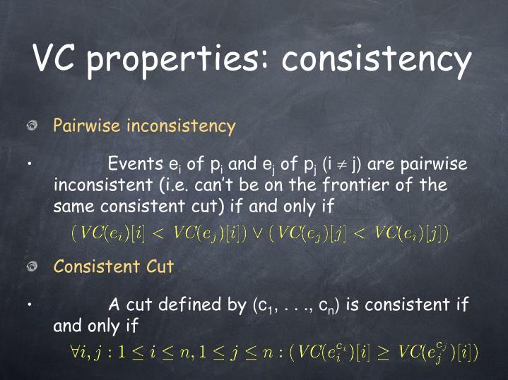 VC properties: consistency