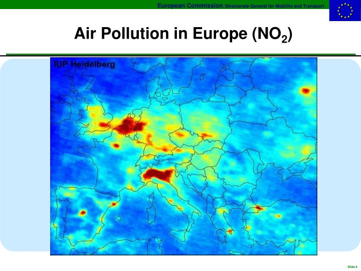 Air Pollution in Europe (NO