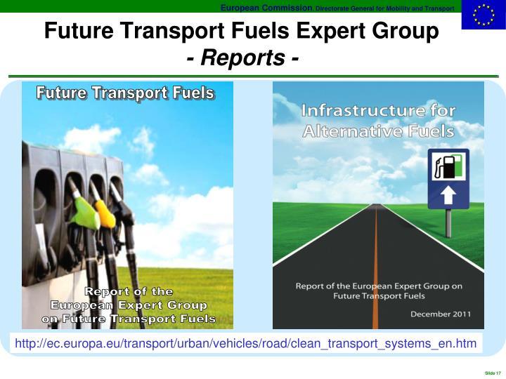 Future Transport Fuels