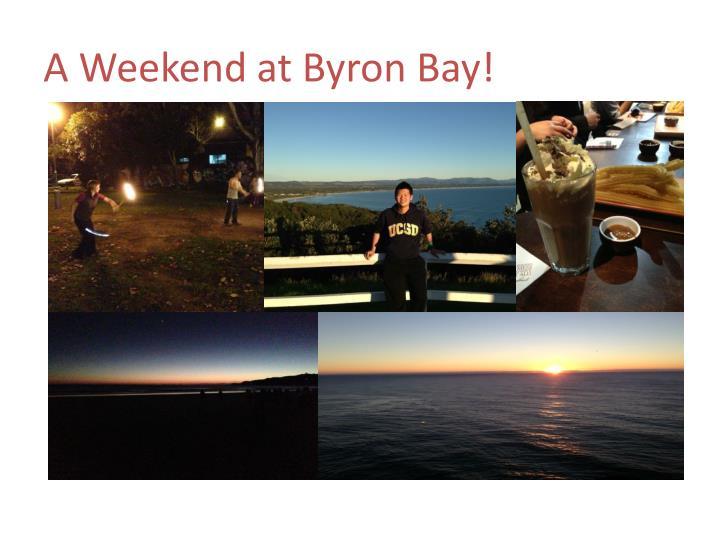 A Weekend at Byron Bay!