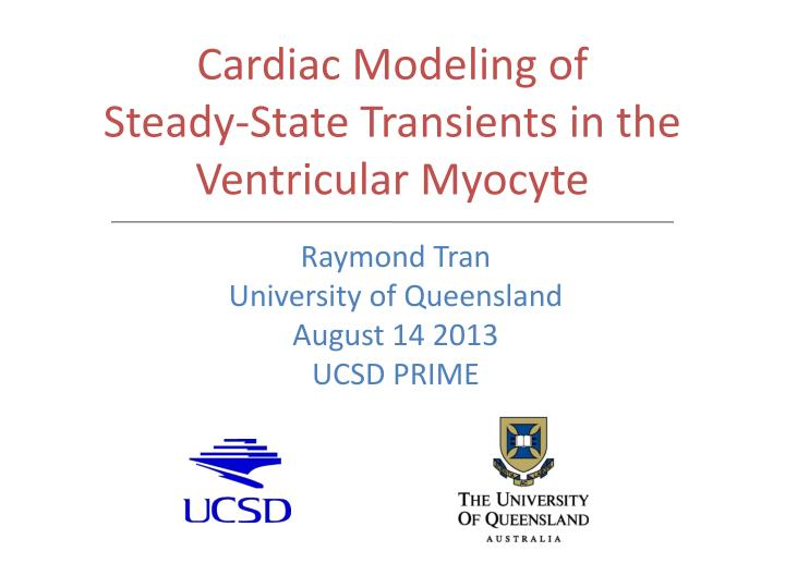 Cardiac modeling of steady state transients in the ventricular myocyte