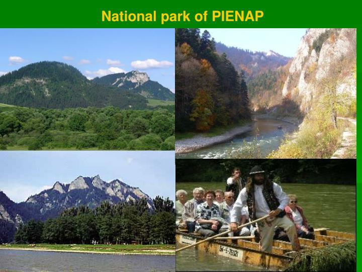 National park of PIENAP