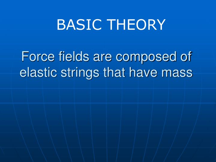 Force fields are composed of elastic strings that have mass
