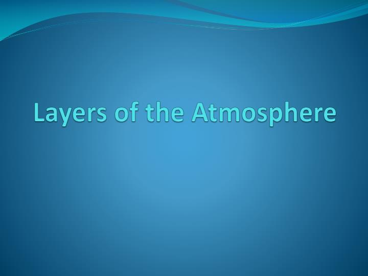 layers of the atmosphere n.