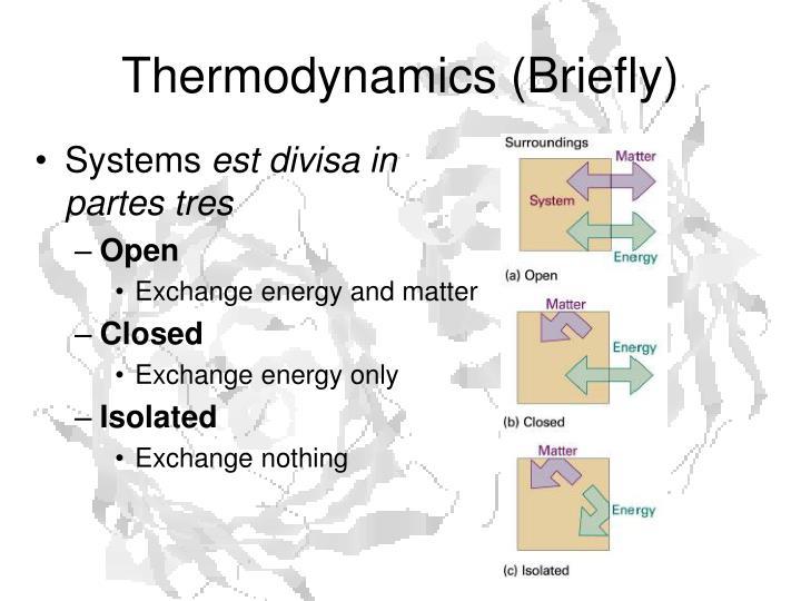 Thermodynamics briefly