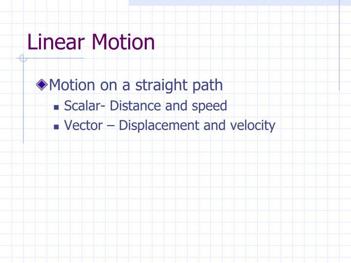 Linear motion1