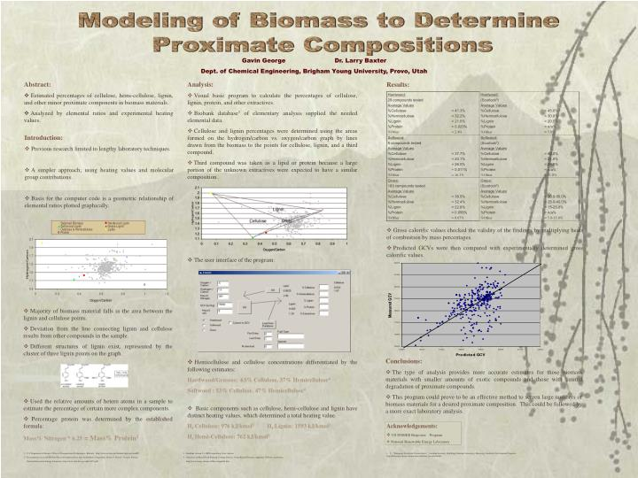 Modeling of Biomass to Determine