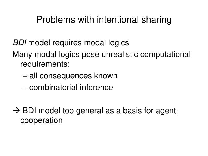 Problems with intentional sharing