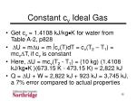 constant c v ideal gas