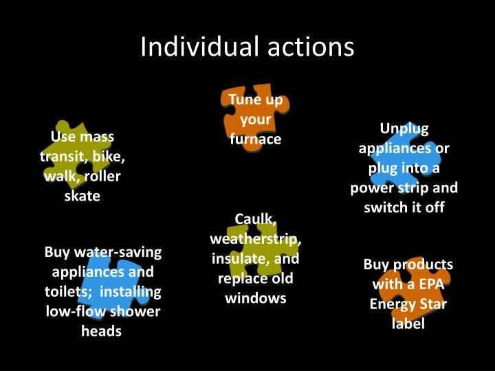 Individual actions