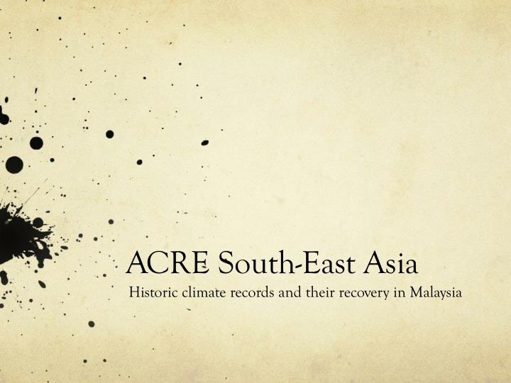 acre south east asia n.