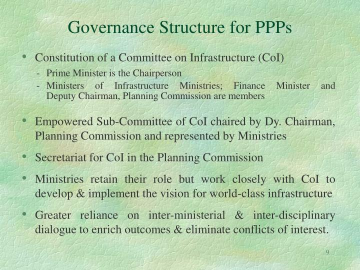 Governance Structure for PPPs