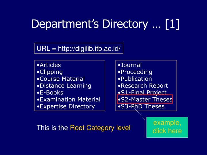 Department's Directory … [1]