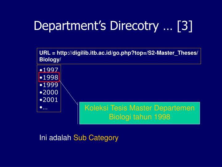 Department's Direcotry … [3]