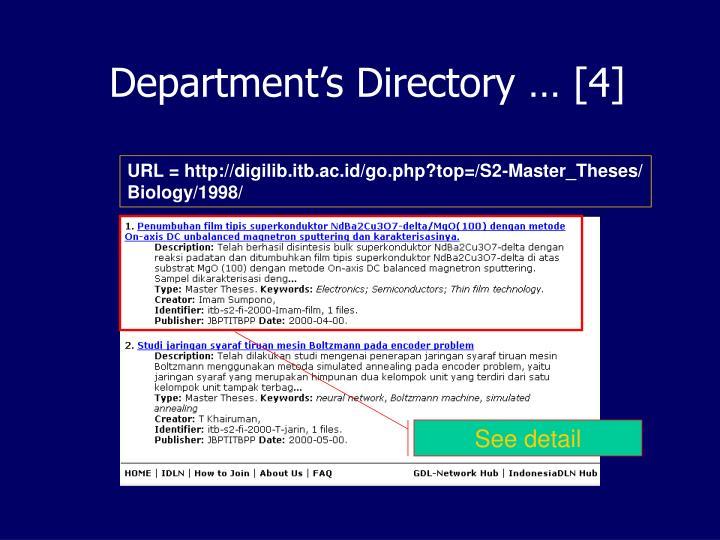 Department's Directory … [4]