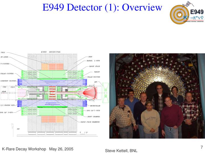 E949 Detector (1): Overview