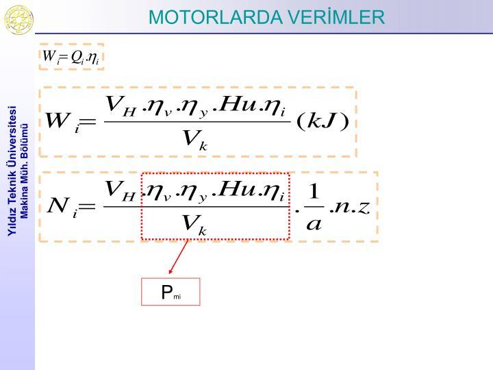 MOTORLARDA VERİMLER