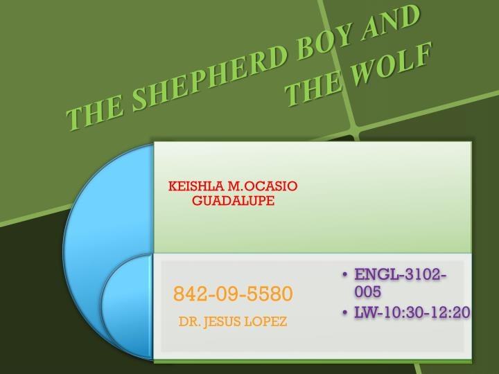 the shepherd boy and the wolf n.