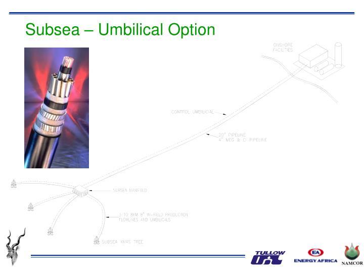 Subsea – Umbilical Option