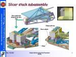 slicer stack subassembly