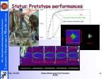 status prototype performances