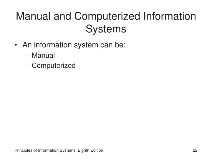 itm301 principles of info syst Accounting information systems, 4th ed the information system the term syst em has been so overused since the personal computer has become p opular that many.