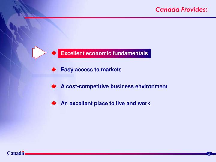 Excellent economic fundamentals