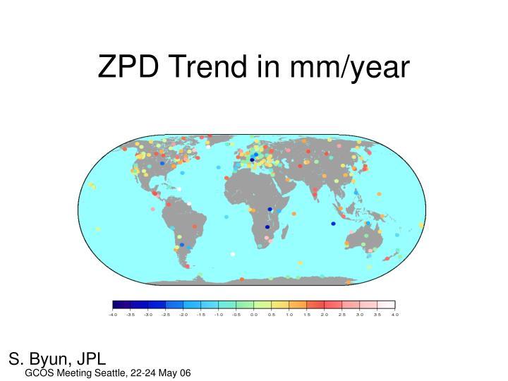 ZPD Trend in mm/year