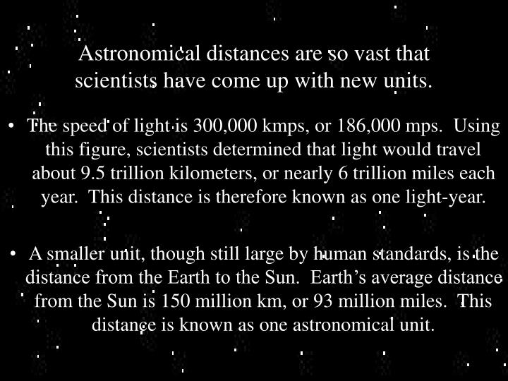 Astronomical distances are so vast that scientists have come up with new units.
