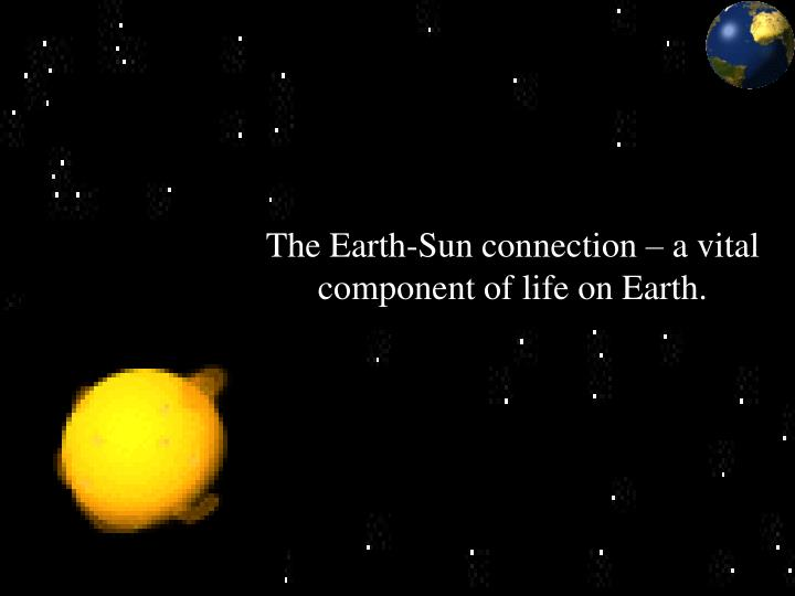The Earth-Sun connection – a vital component of life on Earth.