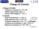 charges currents
